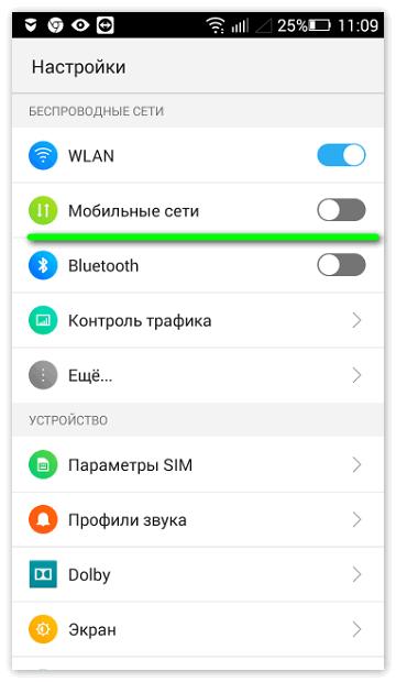 Мобильные сети телефона