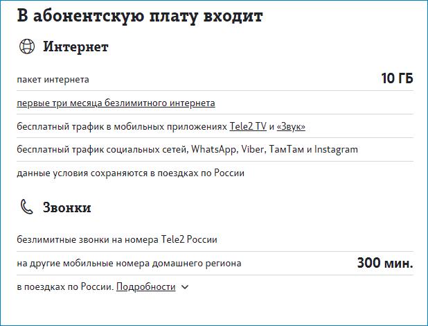 абонплата 300 теле2