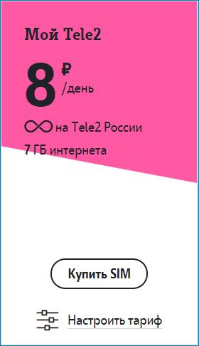 тариф 8 теле2