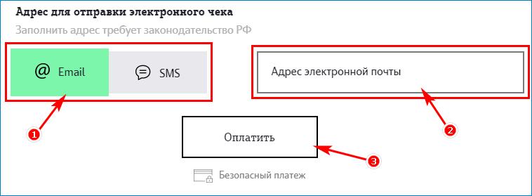Выбор способа получения электронного счета