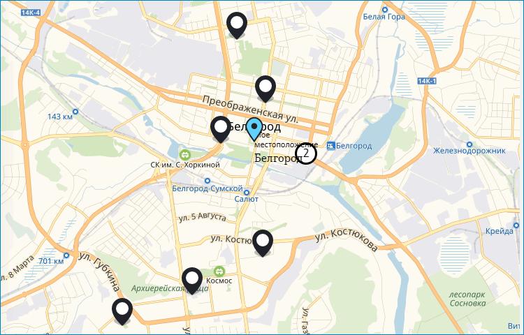 Филиалы ТЕЛЕ2 в Белгороде