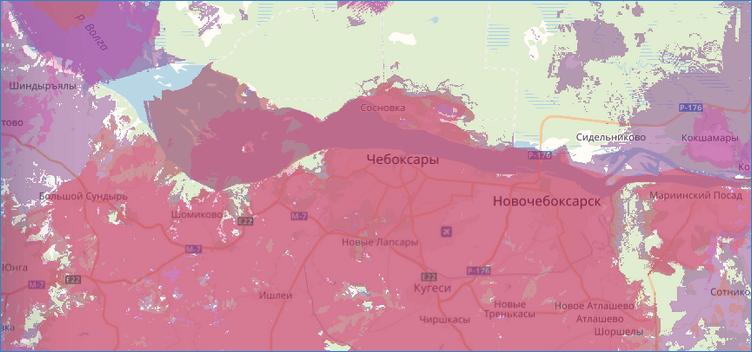 Карта покрытия ТЕЛЕ2